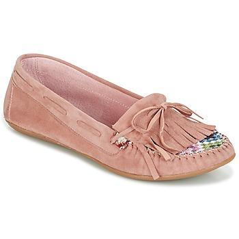 鞋子 女士 皮便鞋 Ippon Vintage MOC-WAX-ROSE 玫瑰色