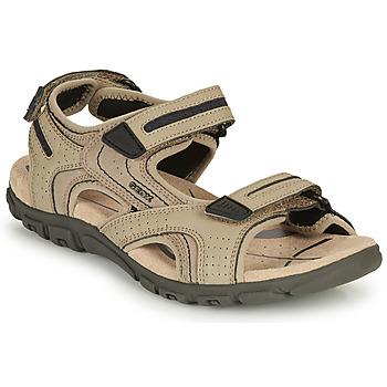 鞋子 男士 运动凉鞋 Geox 健乐士 S.STRADA D 沙色 / 海蓝色