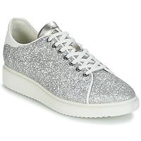 鞋子 女士 球鞋基本款 Geox 健乐士 D THYMAR C 银灰色 / 白色
