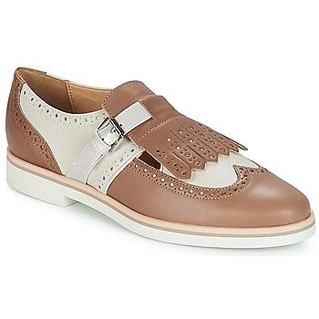 鞋子 女士 德比 Geox 健乐士 JANALEE B 沙色 / 白色