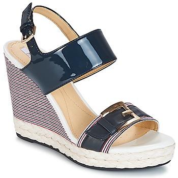 鞋子 女士 凉鞋 Geox 健乐士 JANIRA E 蓝色