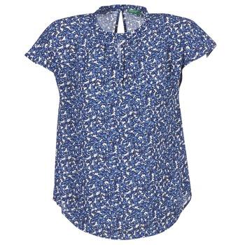 衣服 女士 女士上衣/罩衫 Benetton TOULEOK 蓝色 / 白色