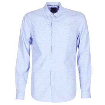 衣服 男士 长袖衬衫 Sisley KELAPSET 蓝色 / 米色