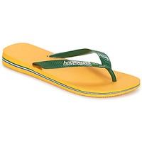 鞋子 人字拖 Havaianas 哈瓦那 BRAZIL LOGO 黄色