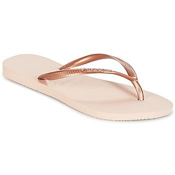 鞋子 女士 人字拖 Havaianas 哈瓦那 SLIM 玫瑰色 / 金色