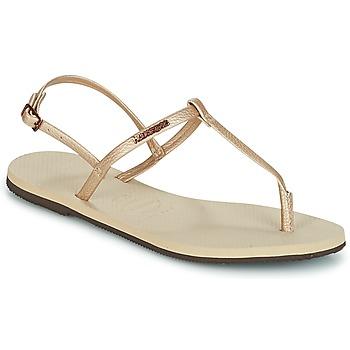 鞋子 女士 凉鞋 Havaianas 哈瓦那 YOU RIVIERA 米色