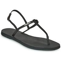 鞋子 女士 凉鞋 Havaianas 哈瓦那 YOU RIVIERA 黑色