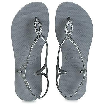 鞋子 女士 人字拖 Havaianas 哈瓦那 LUNA 银灰色