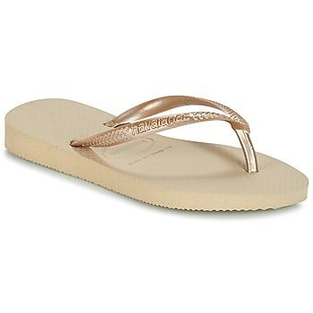 鞋子 女孩 人字拖 Havaianas 哈瓦那 SLIM 米色