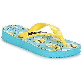 鞋子 男孩 人字拖 Havaianas 哈瓦那 MINIONS 蓝色 / 黄色