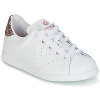 鞋子 女孩 球鞋基本款 Victoria 维多利亚 DEPORTIVO BASKET PIEL KID 白色