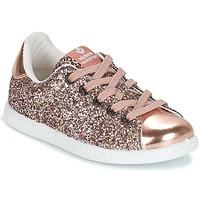 鞋子 女孩 球鞋基本款 Victoria 维多利亚 DEPORTIVO GLITTER KID 玫瑰色
