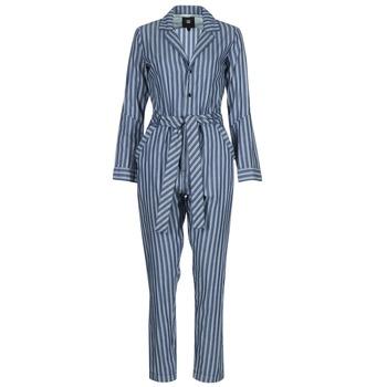 衣服 女士 連體衣/連體褲 G-Star Raw DELINE JUMPSUIT WMN L/S 藍色 / 白色