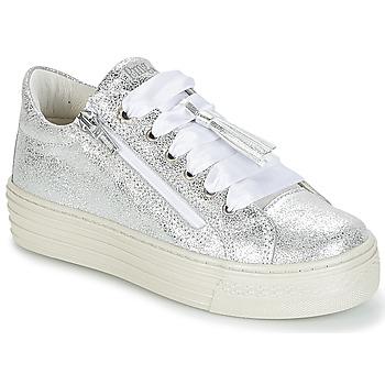 鞋子 女孩 球鞋基本款 Primigi RAPATITE 银灰色