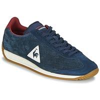 鞋子 男士 球鞋基本款 Le Coq Sportif 乐卡克 QUARTZ PERFORATED NUBUCK 蓝色 / 红色