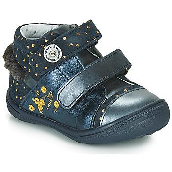 鞋子 女孩 短筒靴 Catimini ROSSIGNOL 海蓝色 / 金色