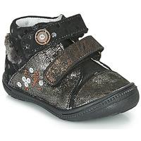 鞋子 女孩 短筒靴 Catimini ROSSIGNOL 黑色 / 金色