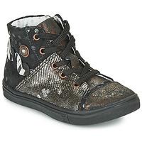 鞋子 女孩 高帮鞋 Catimini ROUSSEROLLE 黑色 / 金色
