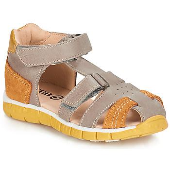 鞋子 男孩 涼鞋 GBB SPARTACO 灰色 / 橙色