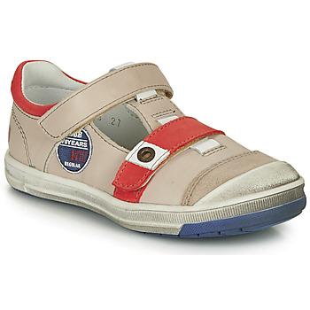 鞋子 男孩 短筒靴 GBB SCOTT Vtc / 奶油白-红色 / Flash