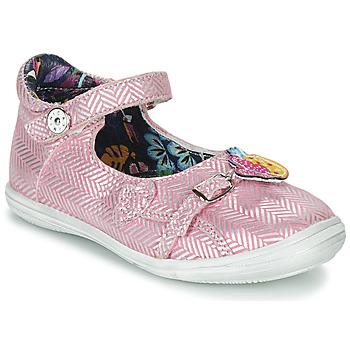 鞋子 女孩 凉鞋 Catimini SITELLE 玫瑰色 / 银灰色