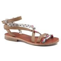 鞋子 女孩 凉鞋 Catimini SAPHIR Vte / 棕色-孔雀绿