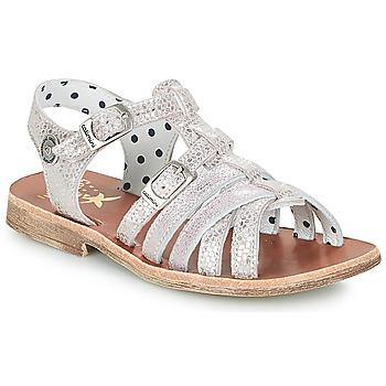 鞋子 女孩 凉鞋 Catimini SAULE 银色 / 玫瑰色