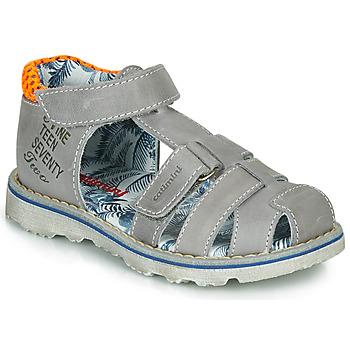 鞋子 男孩 凉鞋 Catimini SYCOMORE 灰色 / 橙色