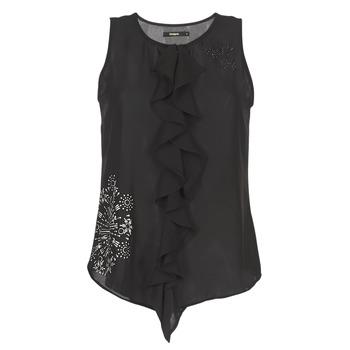 衣服 女士 无领短袖套衫/无袖T恤 Desigual POALDAOR 黑色