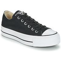 鞋子 女士 球鞋基本款 Converse 匡威 Chuck Taylor All Star Lift Clean Ox Core Canvas 黑色