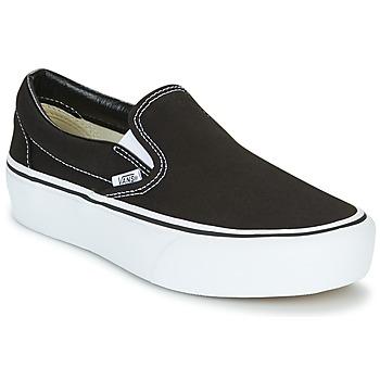 鞋子 女士 平底鞋 Vans 范斯 SLIP-ON PLATFORM 黑色