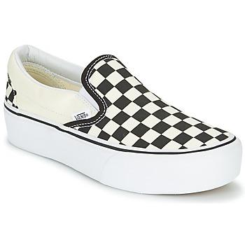 鞋子 女士 平底鞋 Vans 范斯 SLIP-ON PLATFORM 黑色 / 白色