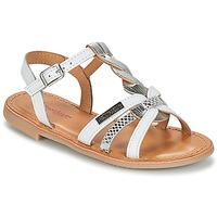 鞋子 女孩 凉鞋 Les Tropéziennes par M Belarbi BADAMI 白色 / 银灰色