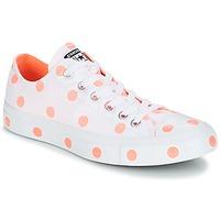 鞋子 女士 球鞋基本款 Converse 匡威 Chuck Taylor All Star-Ox 白色 / 橙色