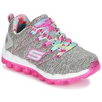 鞋子 女孩 球鞋基本款 Skechers 斯凯奇 SKECH-AIR 灰色 / 玫瑰色