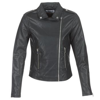 衣服 女士 皮夹克/ 人造皮革夹克 Vila VICARA 黑色