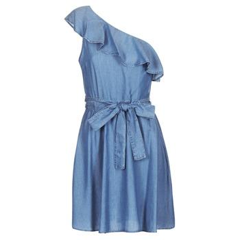 衣服 女士 短裙 Michael by Michael Kors ONE SHLDR RUFFLE DRS 蓝色
