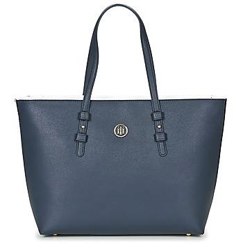 包 女士 购物袋 Tommy Hilfiger TH SIGNATURE STRAP TOTE 海蓝色 / 白色 / 红色