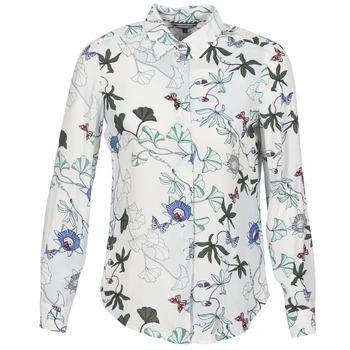 衣服 女士 衬衣/长袖衬衫 Tommy Hilfiger MIRAN-SHIRT-LS 白色