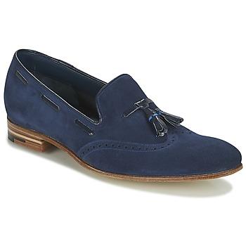 鞋子 男士 皮便鞋 Barker RAY 海藍色