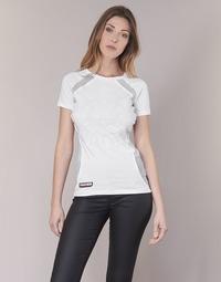 衣服 女士 短袖体恤 Philipp Plein Sport FORMA LINEA 白色 / 白色