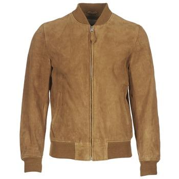 衣服 男士 皮夹克/ 人造皮革夹克 Schott LC301 棕色