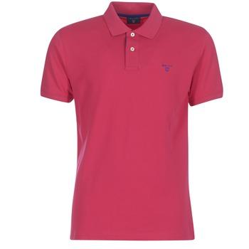 衣服 男士 短袖保罗衫 Gant CONTRAST COLLAR PIQUE RUGGER 玫瑰色