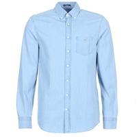 衣服 男士 长袖衬衫 Gant THE INDIGO REG 蓝色