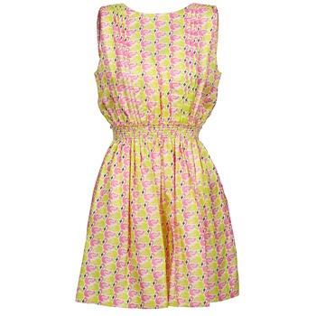 衣服 女士 短裙 Manoush FLAMINGO 玫瑰色 / Fluo / 黃色
