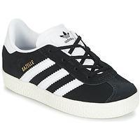 鞋子 儿童 球鞋基本款 Adidas Originals 阿迪达斯三叶草 GAZELLE I 黑色 / 白色