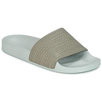 鞋子 拖鞋 Adidas Originals 阿迪达斯三叶草 ADILETTE 米色 / 绿色