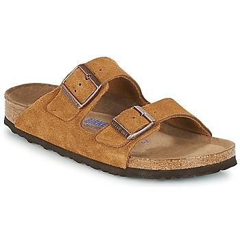 鞋子 女士 休闲凉拖/沙滩鞋 Birkenstock 勃肯 ARIZONA SFB 棕色