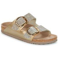 鞋子 女士 休閑涼拖/沙灘鞋 Birkenstock 勃肯 ARIZONA BIG BUCKLE 金色