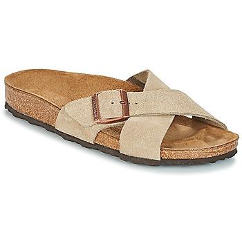 鞋子 女士 休閑涼拖/沙灘鞋 Birkenstock 勃肯 SIENA 灰褐色
